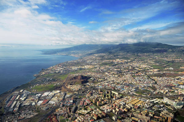 Tenerife Photograph - Aerial View Of Santa Cruz De Tenerife by By Ltce