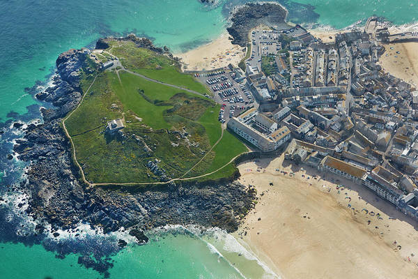 Ives Photograph - Aerial View Of St Ives by Allan Baxter