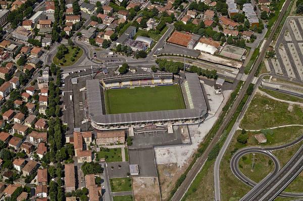 Italian Football Wall Art - Photograph - Aerial View Of Stadio Dino Manuzzi by Blom ASA