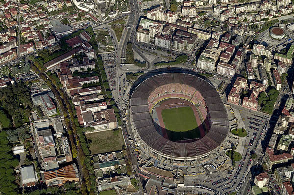 Italian Football Wall Art - Photograph - Aerial View Of Stadio San Paolo, Naples by Blom ASA