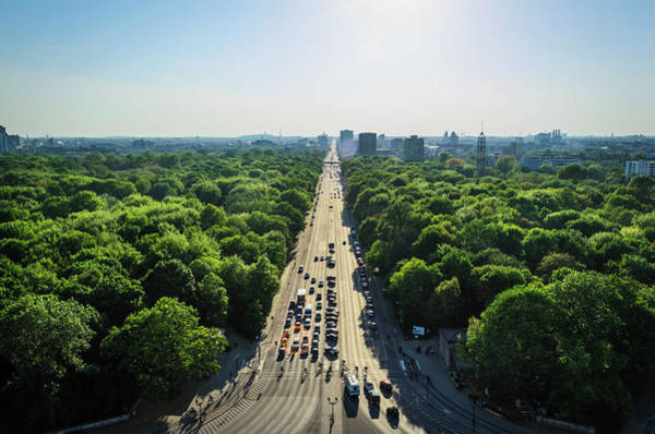 Public Land Photograph - Aerial View Of Strasse Des 17. Juni by Ingo Jezierski