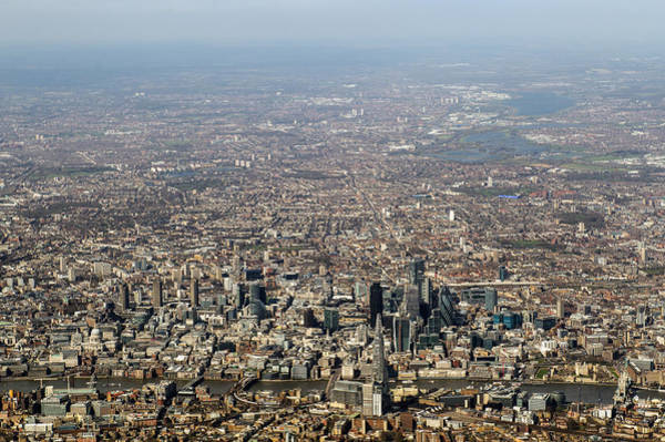 Photograph - Aerial View Of The City Of London by Gary Eason