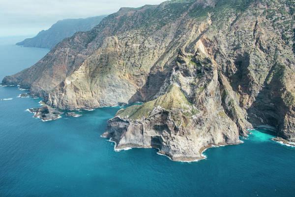 La Gomera Wall Art - Photograph - Aerial View Of The Cliff Of Los Organos by Sergio Villalba
