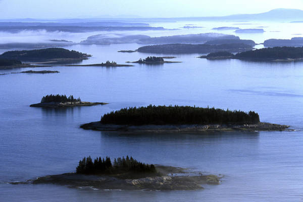 Wall Art - Photograph - Aerial View Of The Deer Island by David McLain