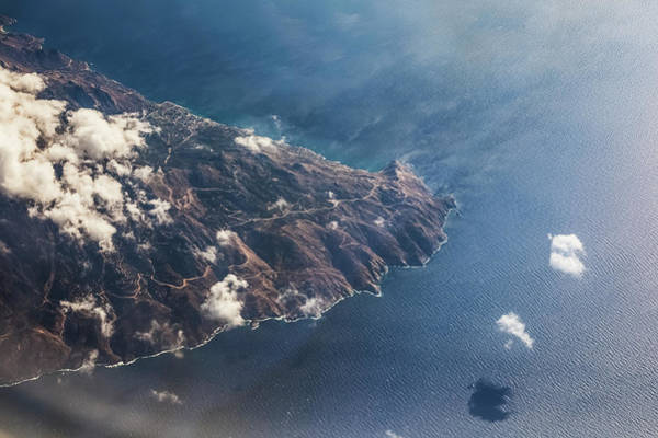 Wall Art - Photograph - Aerial View Of The Greece Coastline by Reynold Mainse