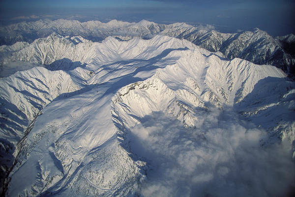 Tate Photograph - Aerial View Of The Japan Alps by Peter Essick