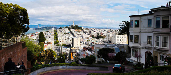 Coit Tower Photograph - Aerial View Of The Lombard Street, Coit by Panoramic Images