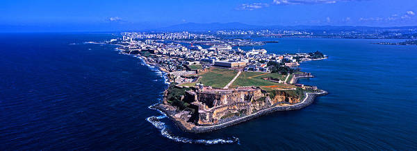 Puerto Rico Photograph - Aerial View Of The Morro Castle, San by Panoramic Images