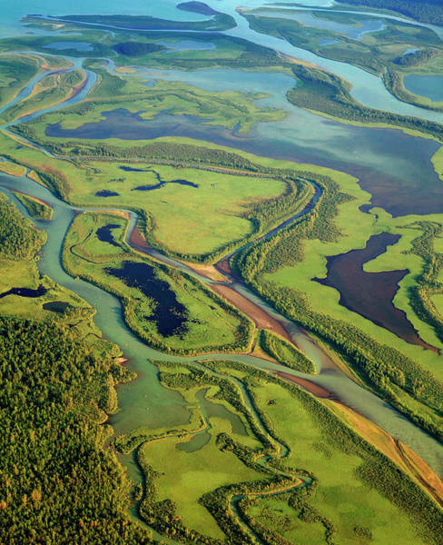 River Delta Photograph - Aerial View Of The Rapa Valley by Bjorn Svensson/science Photo Library