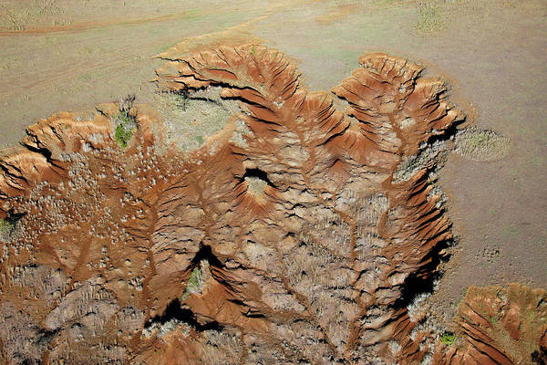 Mount Kenya Photograph - Aerial View Of The Rugged Fields by Joel Santos