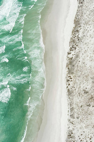 Nature Photograph - Aerial View Of The Sixteen Mile Beach by Peter Chadwick