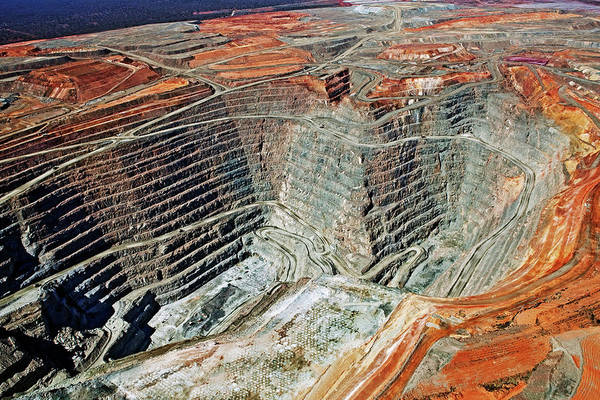 Geology Photograph - Aerial View Of The Super Pit Gold Mine by John W Banagan
