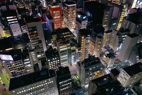 Ginza Wall Art - Photograph - Aerial View Of Tokyos Cityscape by Vladimir Zakharov