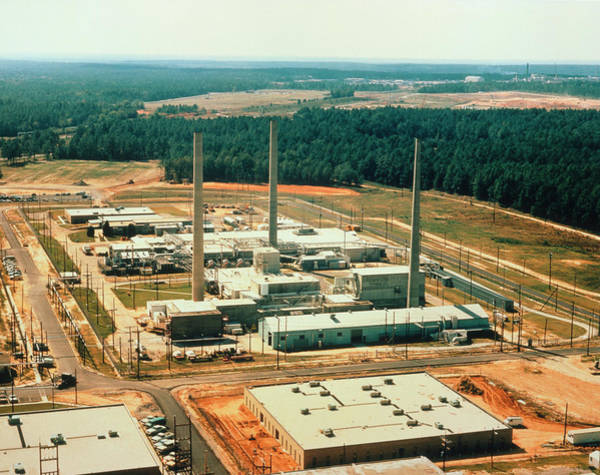 Facilities Photograph - Aerial View Of Tritium Production Facility by Us Department Of Energy/ Science Photo Library