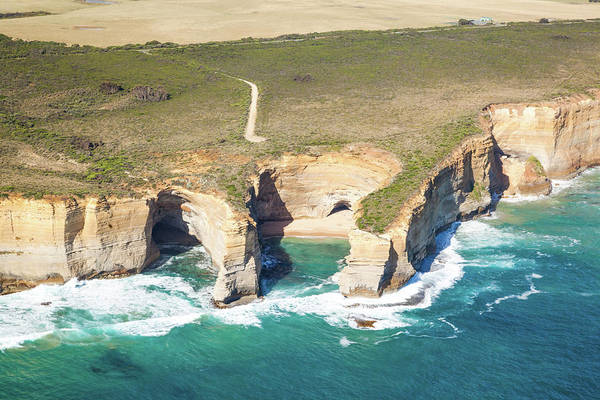 Loch Ard Photograph - Aerial View Of Twelve Apostles Coast by Matteo Colombo