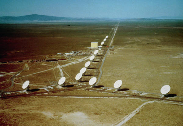 Very Large Array Photograph - Aerial View Of Very Large Array Radio Telescope by Nrao/aui/nsf/science Photo Library