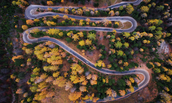 Wall Art - Photograph - Aerial View Of Vrsic Mountain Pass by Ales Krivec
