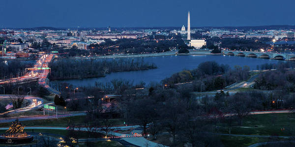 Wall Art - Photograph - Aerial View Of Washington D.c. From Top by Panoramic Images