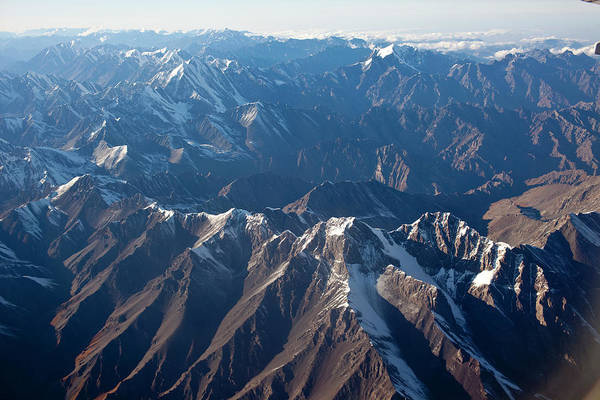 Wall Art - Photograph - Aerial Views Of Mountains South by Christopher Herwig