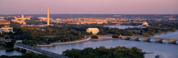 Potomac River Photograph - Aerial, Washington Dc, District Of by Panoramic Images