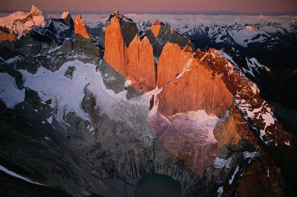 Earthtones Photograph - Aerials Of Torres Del Paine National by Peter Essick