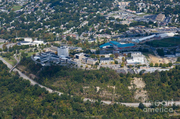 Photograph - aerials of WVVU campus by Dan Friend