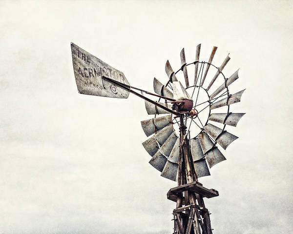 Fourth Photograph - Aermotor Windmill In Grapevine Texas by Lisa Russo