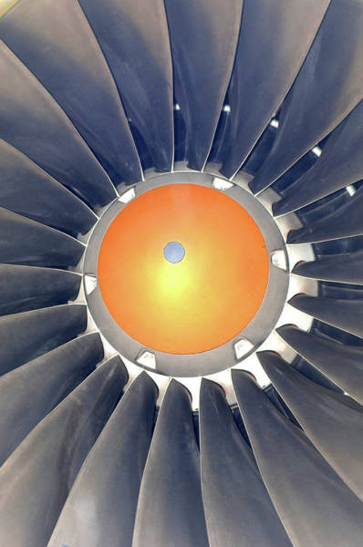 Wall Art - Photograph - Aeroplane Engine by Mark Thomas/science Photo Library