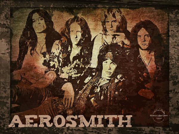 Joe Perry Digital Art - Aerosmith - Back In The Saddle by Absinthe Art By Michelle LeAnn Scott