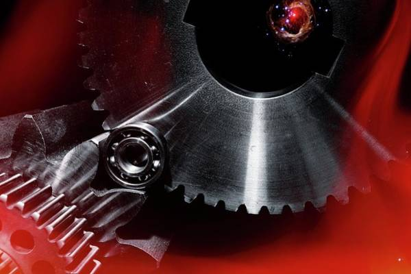 Fire Ball Wall Art - Photograph - Aerospace Gears by Christian Lagerek/science Photo Library