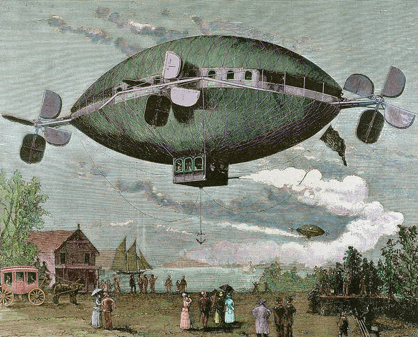 Stagecoach Photograph - Aerostat Engraving In 'the by Prisma Archivo