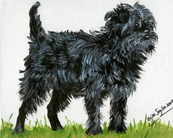 Affenpinscher Dog Art Print by Olde Time  Mercantile
