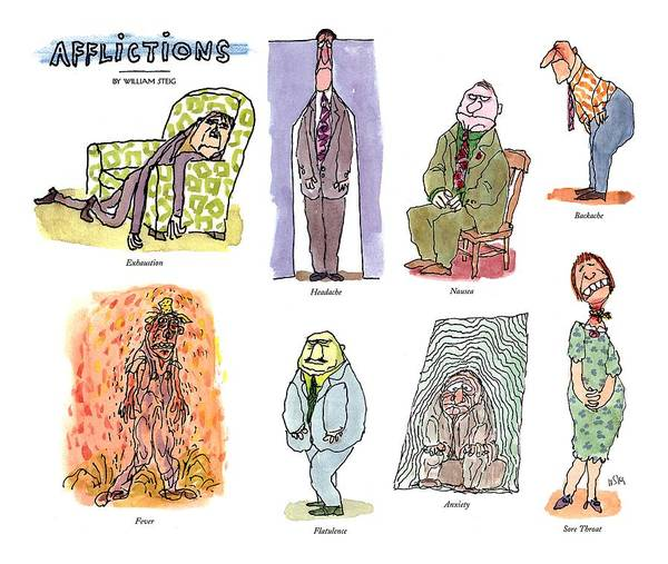 1993 Drawing - Afflictions by William Steig