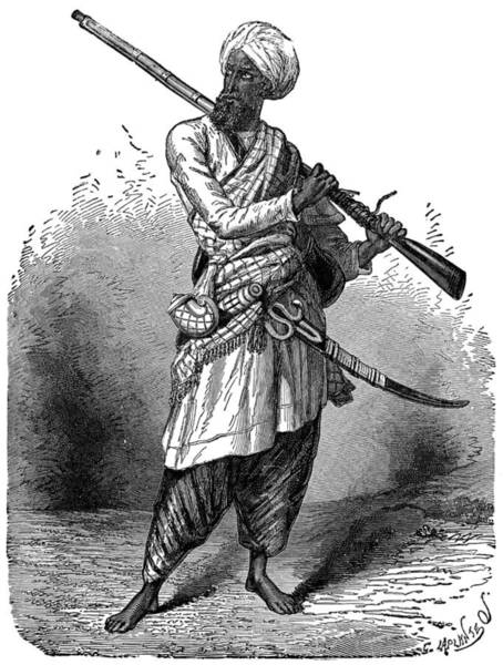 Wall Art - Painting - Afghan Warrior, C1894 by Granger