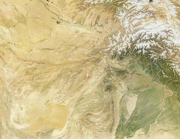 Nation Photograph - Afghanistan by Planetary Visions Ltd/science Photo Library