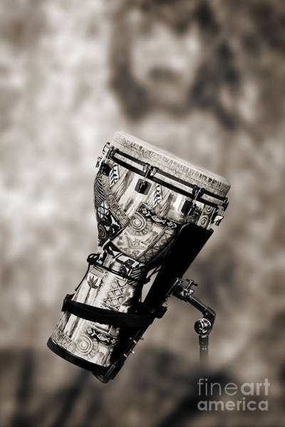 Photograph - Africa Culture Drum Djembe In Sepia 3236.01 by M K Miller