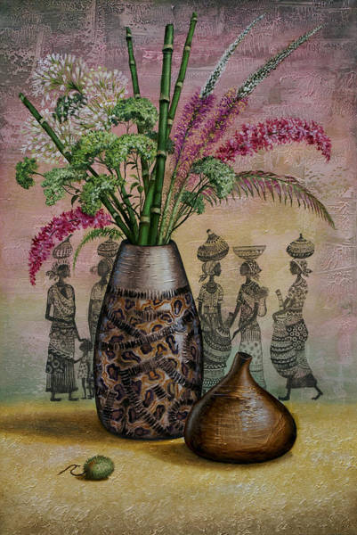 Pumkin Wall Art - Painting - Africa by Vrindavan Das