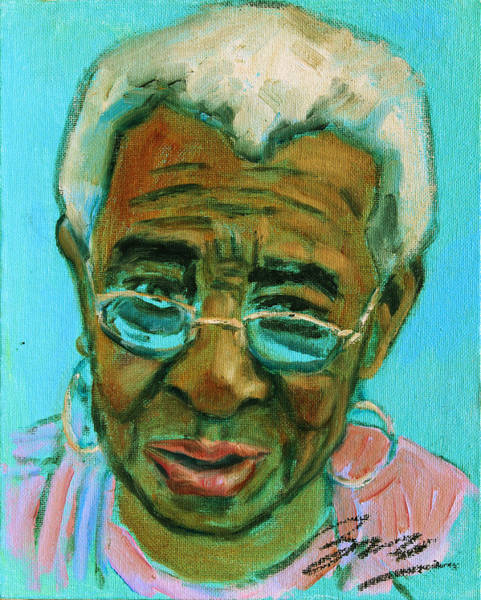 Painting - African American 6 by Xueling Zou