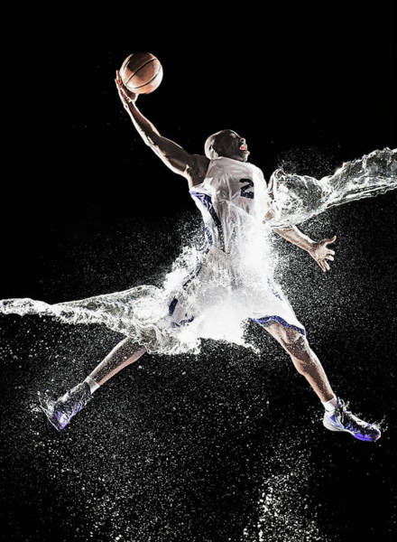 Human Limb Photograph - African American Basketball Player by Erik Isakson