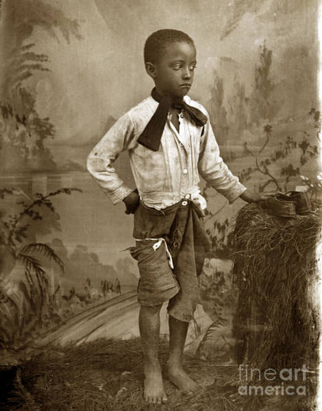 Photograph - African American Young Black Boy Circa 1900 by California Views Archives Mr Pat Hathaway Archives
