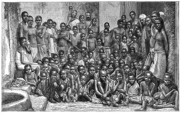 Slavery Photograph - African Arab Slave Trade by Library Of Congress/science Photo Library