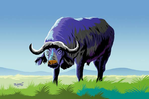 Behaviour Digital Art - African Buffalo by Anthony Mwangi