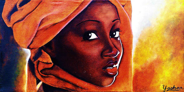 Mama Africa Wall Art - Painting - African Fire by Yashar Akzar