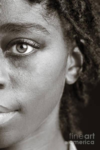 Photograph - African Girl Eye 1193.01 by M K Miller
