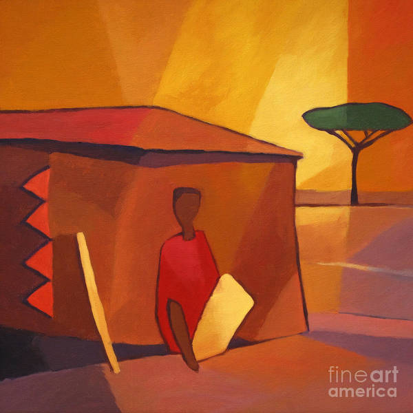 Painting - African Icon by Lutz Baar