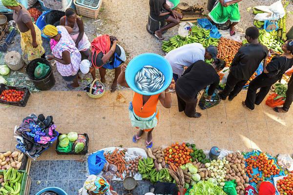 Real People Photograph - African Market, Assomada, Santiago by Peter Adams