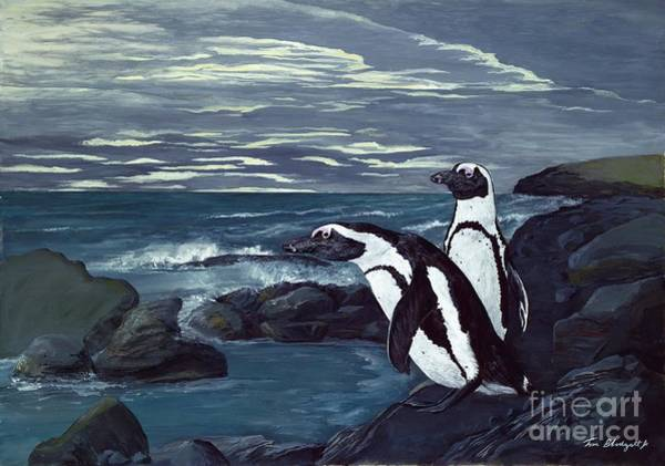 African Penguin Painting - African Penguin by Tom Blodgett Jr