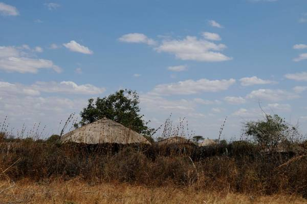 Katherine Green Wall Art - Photograph - African Series Masai Hut by Katherine Green