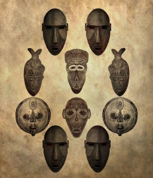 Wall Art - Photograph - African Tribal Masks by Dan Sproul