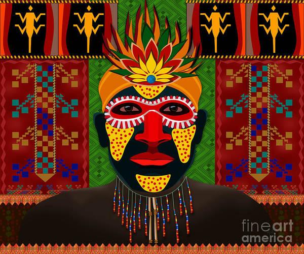 Wall Art - Digital Art - African Tribesman 1 by Peter Awax